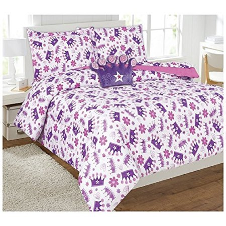 6 Piece Comforter Set Kids Bed in a Bag- Twin (Crown)