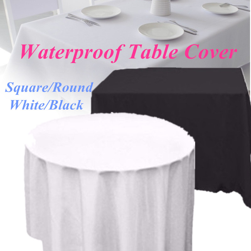 Walmart & 1pCS 178/137cm Rectangle/Round Waterproof Table Covers PE Tablecloth Table Cloth Cover Banquet Wedding Party Dining Decor