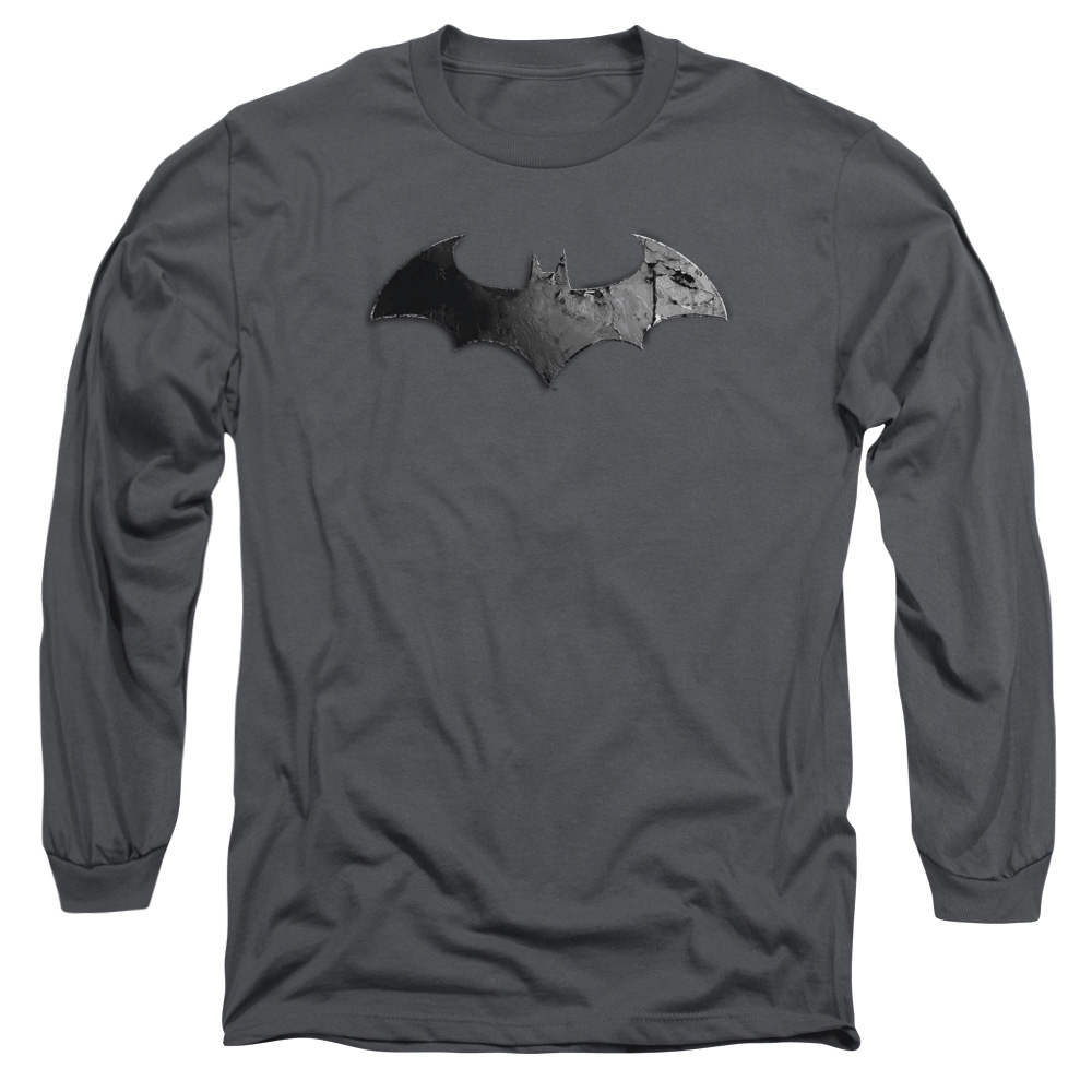 Batman Arkham City Bat Logo Mens Long Sleeve Shirt by Trevco