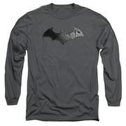 Batman Arkham City Bat Logo Mens Long Sleeve Shirt by Trevco