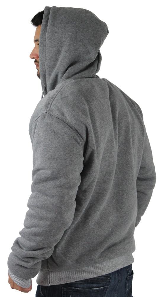 134770b3be3 Moda Essentials - Men s Sherpa Lined Zip Up Hoodie Sweatshirt Size XL -  Walmart.com