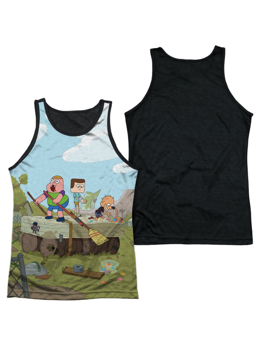 Clarence Boat Mens Tank Top Shirt with Black Back