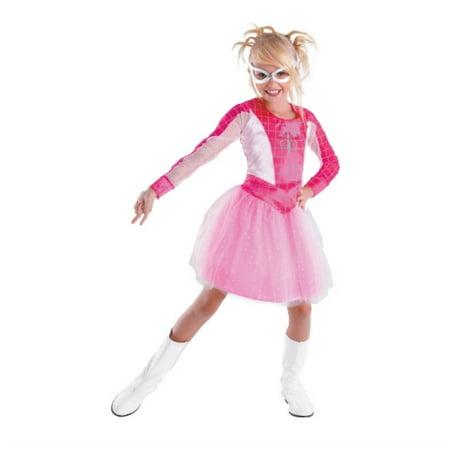 Disguise Women of Marvel Girl Pink Spider Girl Costume Glow in Dark