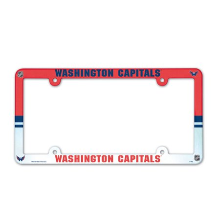 Washington Capitals Official NHL 12 inch x 6 inch  Plastic License Plate Frame by Wincraft