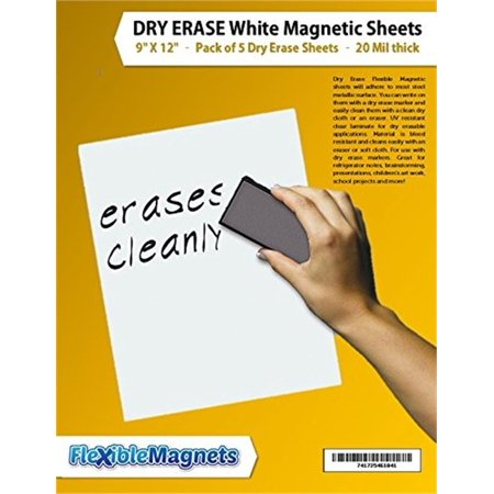 5 Dry Erase White Magnetic Sheets - 9