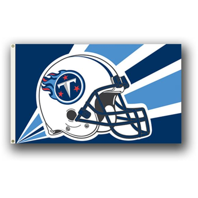 Fremont Die  94243B 3 Ft.  X 5 Ft.  Flag with Grommetts- Tennessee Titans