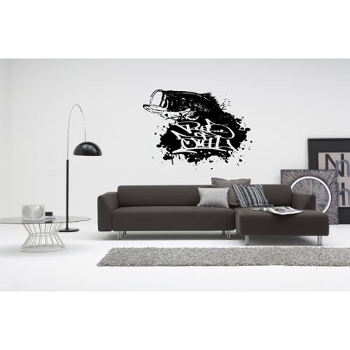 Stickalz llc Bass Fishing Fish Wall Art Sticker Decal