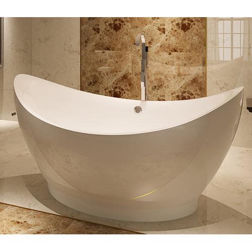 Kardiel HelixBath Eleusis 67.75'' x 31'' Soaking Bathtub