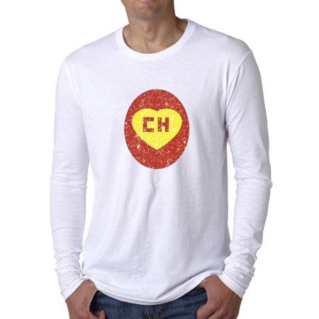 Iconic El Chapulin Colorado CH Red Yellow Men's Long Sleeve - Chapulin Colorado Costume
