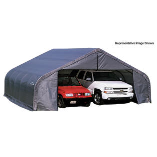 Click here to buy Peak Style Shelter 22x24x11 Steel Frame in GrayCover.