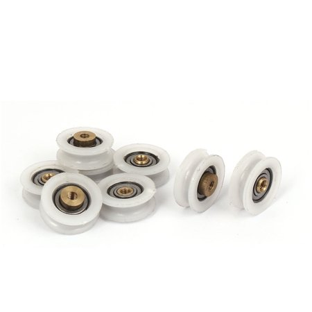 Round Groove Nylon Pulley Wheels Roller 8 Pcs for 5mm Rope