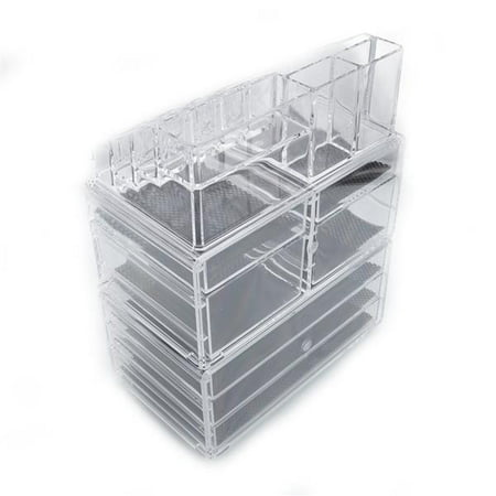 Bathroom Organizer on Countertop with 3 Tier Drawers and 4 Small Drawers, 9.5''x6''x11.6