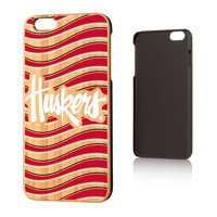 NU Nebraska Huskers Wave Bamboo Case for iPhone 6 Plus