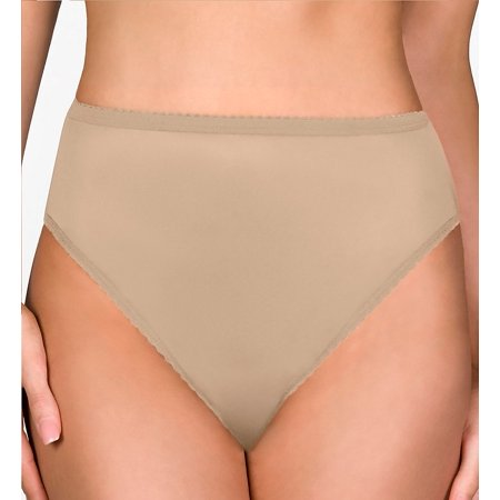 Shadowline 17842 Nylon Classics Hi-Leg Brief (Nylon White Brief)