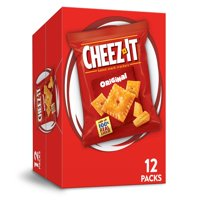 Cheez-It, Baked Snack Cheese Crackers, Original, Single Serve, 12 Oz, 12 Ct