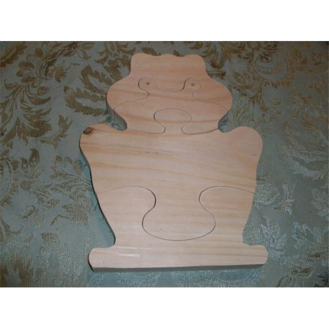 Fine Crafts 241ANI Wooden frog jigsaw puzzle