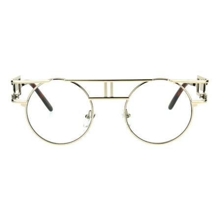Art Deco Nouveau Unique Hippie Groove Pimp Round Circle Lens Eyeglasses Light (Art Eyeglasses)