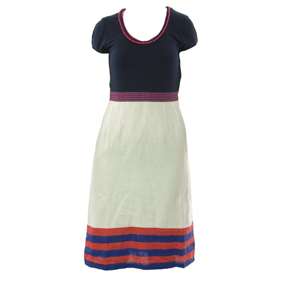 90d4b23eec Boden - BODEN Women s Stripy Hem Dress White Multicolored - Walmart.com