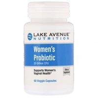 Lake Ave  Nutrition  Women s Probiotics  20 Billion CFU  60 Veggie Capsules