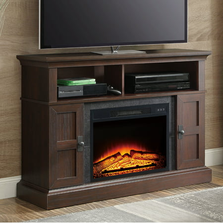 Whalen Media Fireplace Console for TVs up to 55″, Dark Cherry
