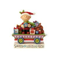 Peanuts by Jim Shore Charlie Brown Christmas Train Figurine, 4.72-inch