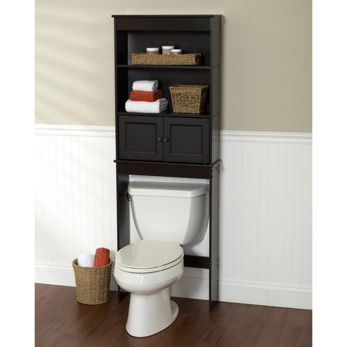 Bathroom Signs Walmart espresso bathroom shelf space saver - walmart