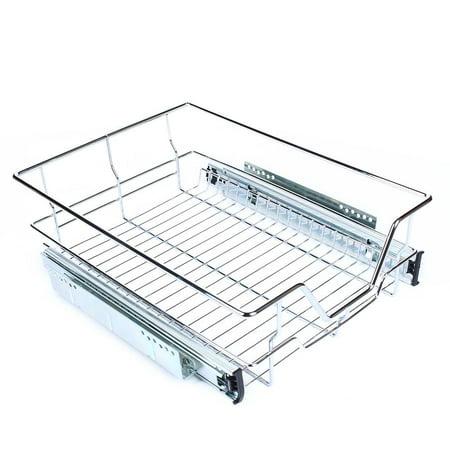 YOSOO Pull Out Cabinet Organizer Drawer Basket Wire Slide Roll Kitchen Storage Cupboard