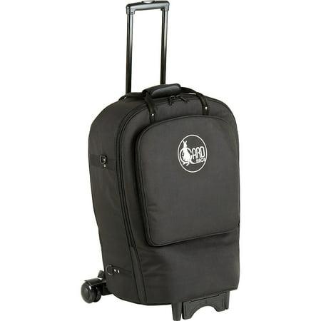 Gard Fixed Bell French Horn Wheelie Bag 41-WBFSK Black Synthetic w/ Leather Trim Burton Wheelie Gig Bag