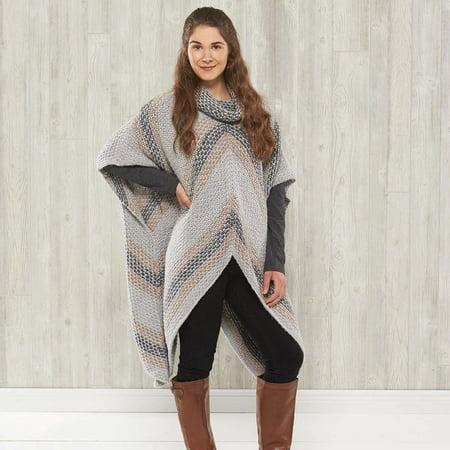 Speckled Poncho Knit Pattern