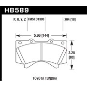 Hawk Performance 08-14 Toyota Land Cruiser Ceramic Street Front Brake Pads