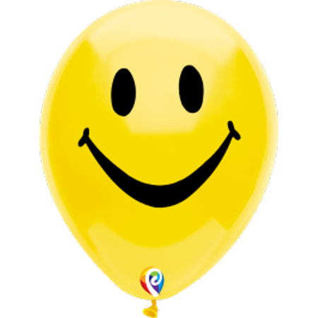 Party Supplies - Pioneer Latex Balloon Smiley Happy Face Yellow 8 ct. 12