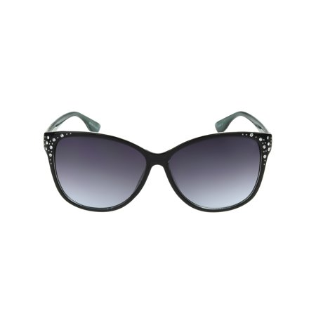 Foster Grant Women's Black Cat-Eye Sunglasses I10