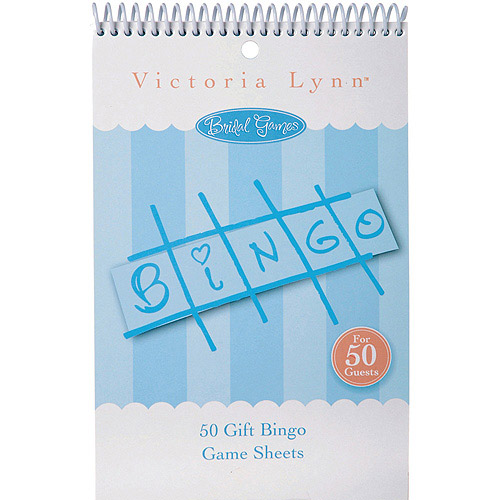 Party Game Sheets, 50-Pack, Bridal Bingo