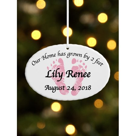 Personalized Baby Feet Ceramic Oval Christmas Ornament, Available in 5 Designs](Christmas Art For Toddlers)