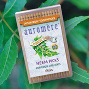 Ayurvedic Neem Picks Auromere Ayurvedic Products 100 Toothpicks