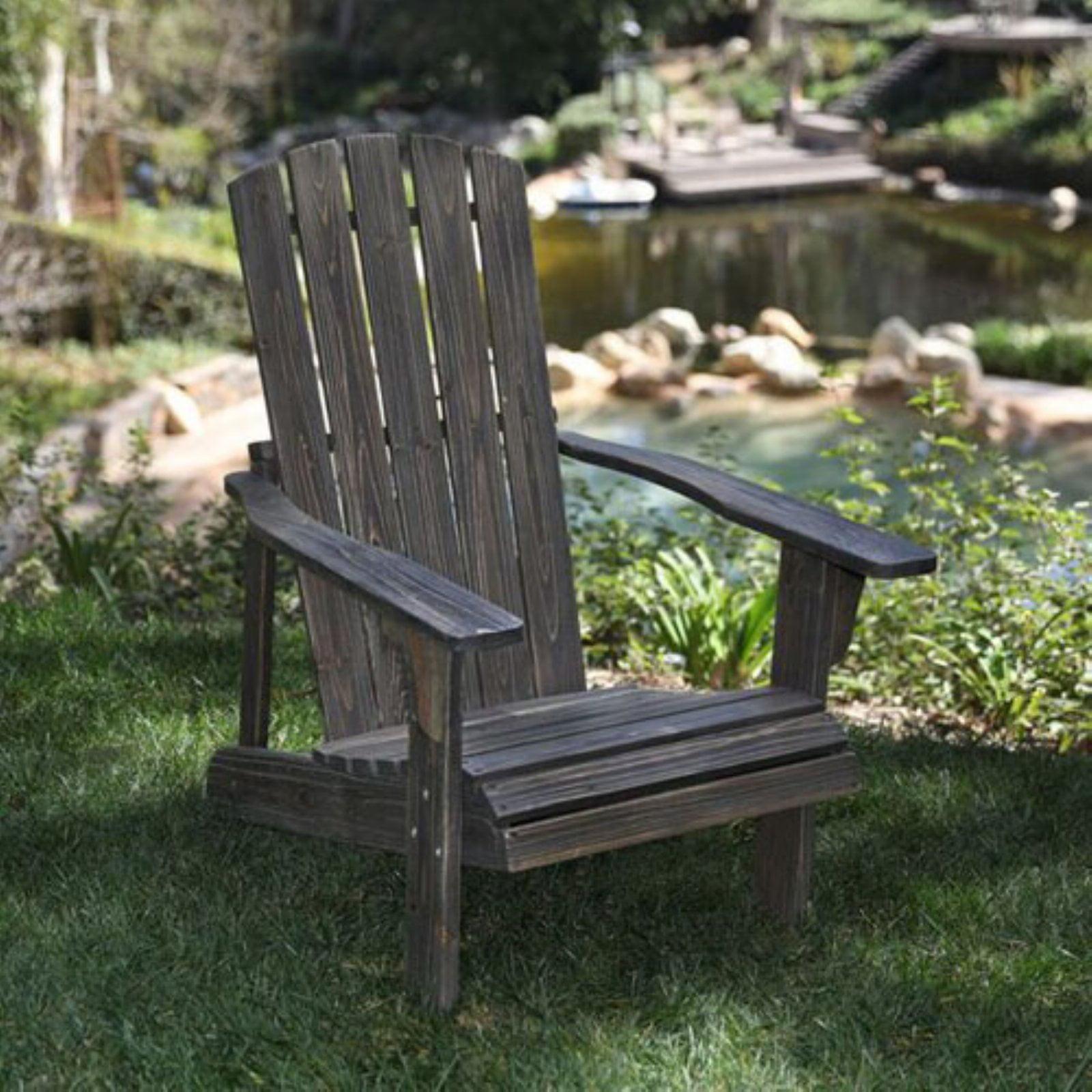 Lakewood Rustic Adirondack Chair Barnwood by Shine Company