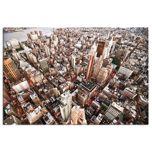Modern Home Ultra High Resolution Tempered Glass Wall Art - New York Skyscrapers
