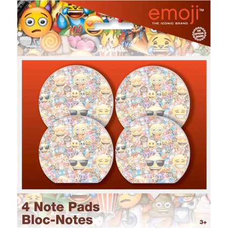 Safari Party Notepad - (4 Pack) Emoji Notepad Party Favors, 4ct