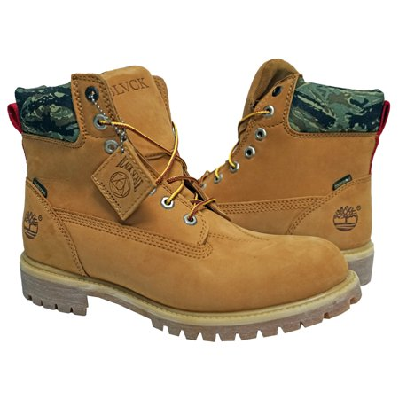 Black Scale x Timberland Boots BLVCK SCVLE Camo Nubuck Wheat 6 In Premium