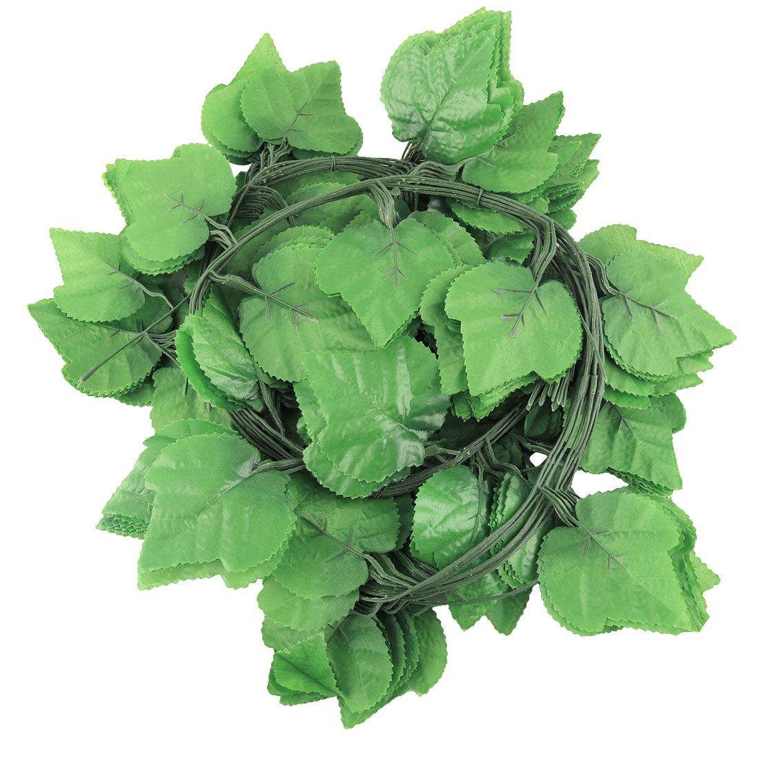Plastic Artificial Grape Leaves Hanging Vine Green 10pcs for Home Party Decor