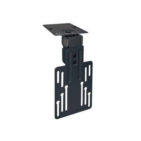 Monoprice Under Cabinet Tilt TV Wall Mount Bracket - For TVs 9 Inch to 17in, Max Weight 17.6 lbs, VESA Patterns Up to 100x100 ()