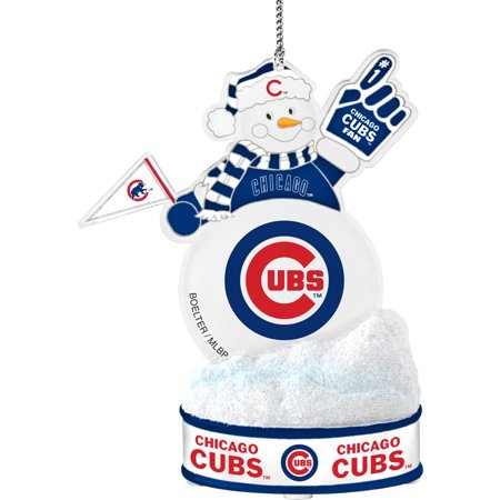 Topperscot by Boelter Brands MLB LED Snowman Ornament, Chicago Cubs (Baseball Snowman Ornament)