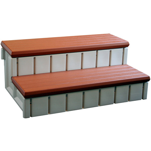 Confer Spa Step with Storage, Redwood
