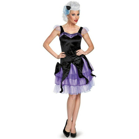 Disney Deluxe Ursula Women's Plus Size Adult Halloween Costume, Women's Plus