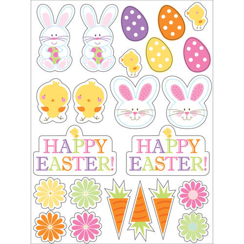 Easter Bunny and Friends Stickers, 4pk