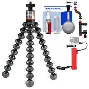 Joby GorillaPod 325 Flexible Tripod with Hand Grip + Action Camera Clamp + Kit