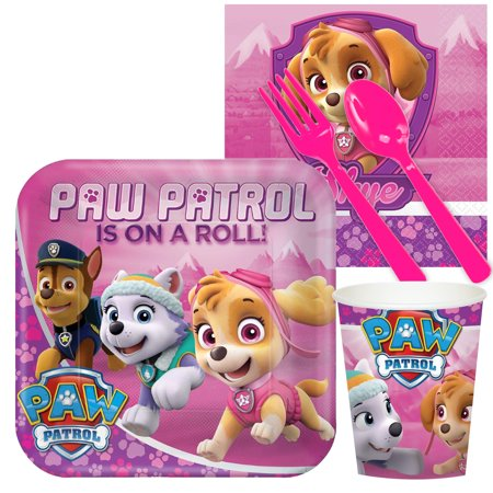 Pink Paw Patrol Girl Party Supplies - Snack Party - Party Supplies Pink