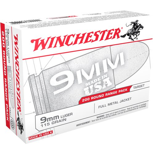 Winchester 9mm Luger 115-Grain Deer Full Metal Jacket