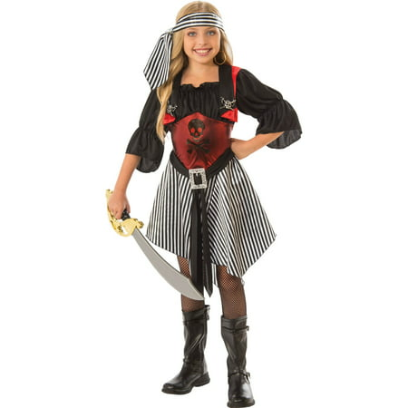 Girls Crimson Pirate Costume - Diy Little Girl Pirate Costume