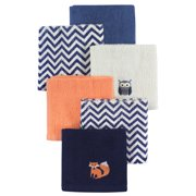 Hudson Baby Boy and Girl Woven Terry Washcloths, 6-Pack, Forest